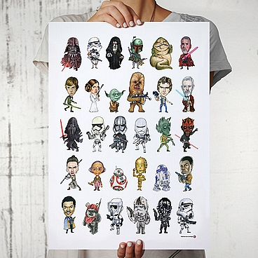 Poster Star Wars karikature