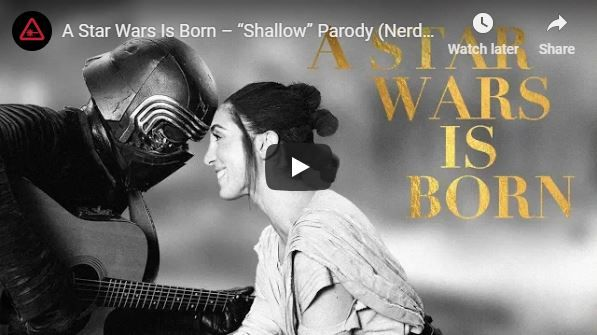 Video A Star Wars Is Born - Shallow serenada by Rey i Kylo